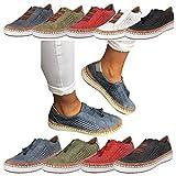 Sportschuhe für Damen/Dorical Frauen Slip on Sneakers, Casual Hohle-Heraus Round Toe Schuhe, Bequeme Sneaker Slipper, Halbschuhe,Sportlich Flats Damenschuhe(Z02-Blau,40 EU)