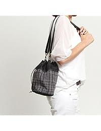 Saca pequeña gris de tejido vaquero y tapicería - Bolso de hombro para mujer - SAQUET