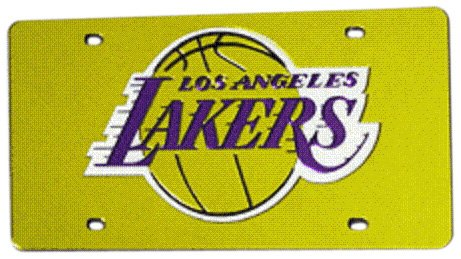 NBA Los Angeles Lakers Gelb Laser geschnitten Auto Tag Los Angeles Lakers Laser