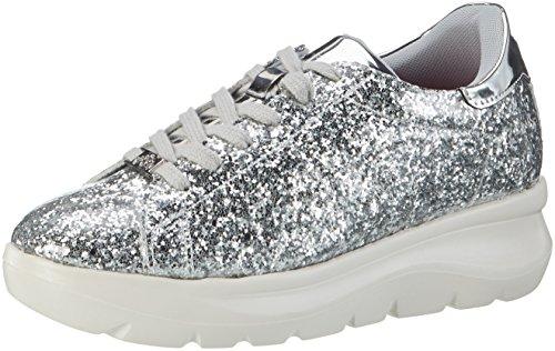 Fornarina Damen Venere Sneaker Silber (Silver) 38 EU