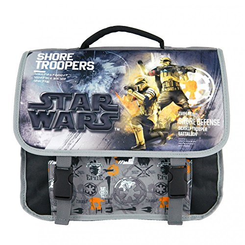 CARTABLE 38CM NOIR ET GRIS-STAR WARS DISNEY
