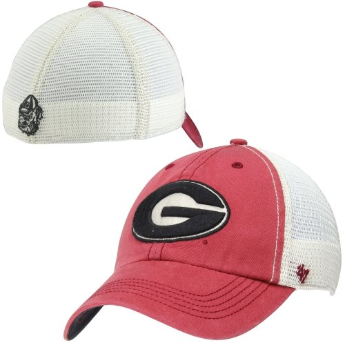 NCAA Georgia Bulldogs Mens Caprock Canyon '47 Closer Mesh Fit Hat, Red, One Size Stretch Red Hats Stretch-hut