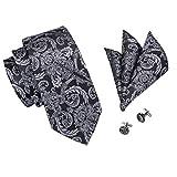 Ensemble avec cravate en soie tissée à motif floral,...