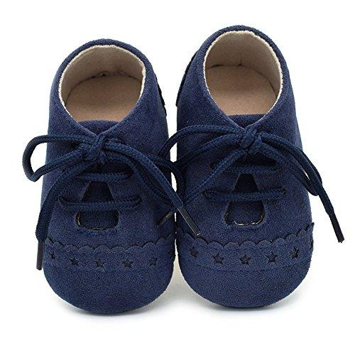 Zapatos de bebé, Zapatillas de bebé niño Anti-Slip Suave Suela de Encaje Zapatos 0-18 Meses 6-12...