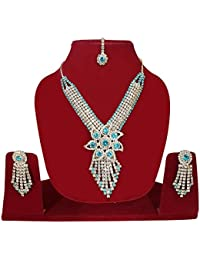 Fully Special Design American Diamond Necklace Set For Women & Girls / Party Wear Diamond Necklace For Women &...