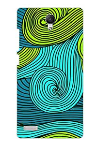 AMAN Colour Disgining 3D Back Cover for Xiaomi Redmi Note 4G