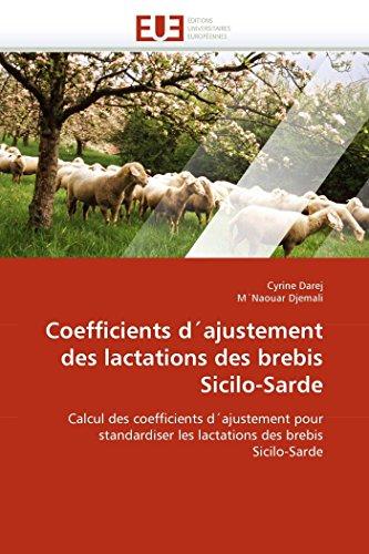 Coefficients d''ajustement des lactations des brebis sicilo-sarde par Cyrine Darej