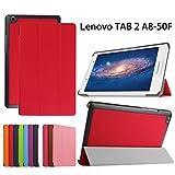 Forhouse Hülle Lenovo Tab 2 A8, PU Ledertasche Flip Magnet Etui Mit Standfunktion Ultra Schlanke stoßfest Schutzhülle für Lenovo Tab 2 A8