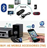 AE (TM) Bluetooth Stereo Adapter Audio Receiver 3.5MM Music Wireless Hifi Dongle Transmitter Usb Mp3 Speaker Car BLACK