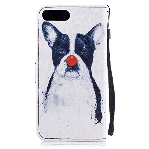Per iphone 7 Plus / iphone 8 Plus Cover , Per iphone 7 Plus / iphone 8 Plus Custodia , Custodia Book Style Design Portafoglio per iphone 7 Plus / iphone 8 Plus, COZY HUT® Custodia per iphone 7 Plus /  Cane da pagliaccio