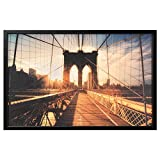Zigzag Trading Ltd Ikea BJORKSTA - Bild mit Rahmen Brooklyn-Brücke Bei Sonnenuntergang / Schwarz