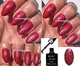 BLUESKY vip10Frosty Pink fein silber Glitzer Sparkle Nagellack-Gel UV-LED-Soak Off 10ml plus 2homebeautyforyou Shine Tücher