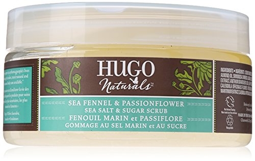 Hugo Naturals Sea Salt and Sugar Scrub, Sea Fennel and Passionflower, 9 Ounce by Hugo Naturals