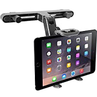 "Macally Adjustable Car Seat Headrest Mount and Holder for Apple iPad Air/Mini, Samsung Galaxy Tab, Kindle Fire, Nintendo Switch, and 7"" to 10"" Tablets (HRMOUNT)"
