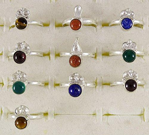 Banithani Lot de 10 paires de Pcs bande de belle bague femmes indiennes Fashion bijoux Party Multicolore (Conception # 5)