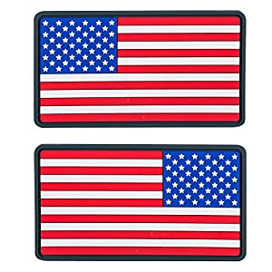 Helikon USA Grand Drapeau PVC Écusson (Lot de 2) Vraies couleurs