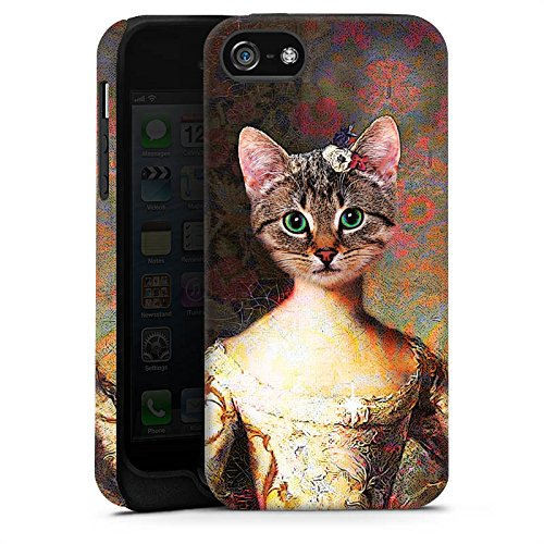 Apple iPhone 8 Plus Tasche Hülle Flip Case Katze Cat Kitty Tough Case matt
