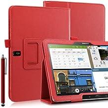 "Bolsa / Funda / Cover para Samsung Galaxy TabPRO 10.1"" T520 + Protector de pantalla + Lápiz óptico - Rojo"