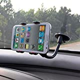 Universal Phone Holder for Car to fit iPhone X, 8, 7, 6, 6 Plus, 5, 5s, 5c, 4, 4s, Samsung Galaxy S8 S7 S6 S5 S4 S3, Note, HTC, Sony Xperia, Google Pixel, Nexus, GPS, Sat Nav, PDA or any Smartphone measuring up to 95mm in Width by KYWISS® (4 Points of Contact)