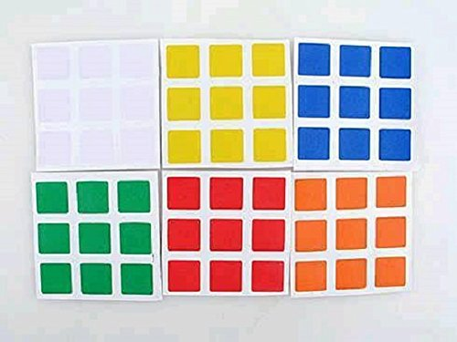 Stickers sticker autocollant de Rubik's cube 3x3 - 6 faces 6 couleurs
