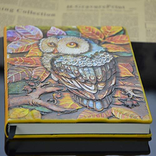 Bureze Notizbuch aus Kunstleder, manuelle Farbprägung, hochwertiges europäisches Design, zur Wiederherstellung der alten Wege des Notizbuchs -