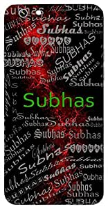 Subhas (Shining) Name & Sign Printed All over customize & Personalized!! Protective back cover for your Smart Phone : Apple iPhone 6
