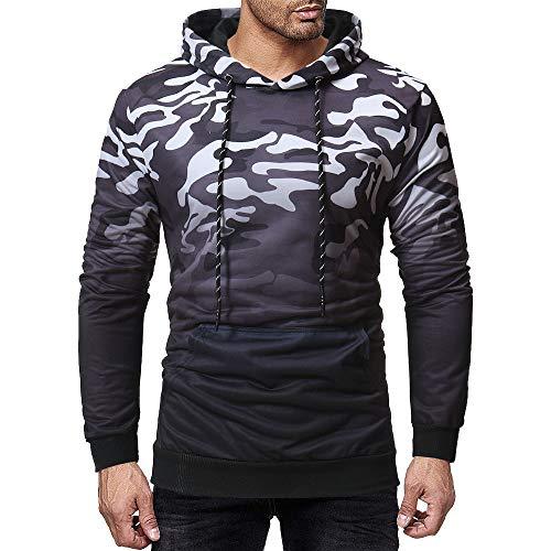 Julywe Herren Basic Hoodie Druck Pullover Kapuzenpullover Outfits Camouflage Hooded Sweatshirt Tops Familie mit Kapuze Pulli Langarm Kleidung Für Männer