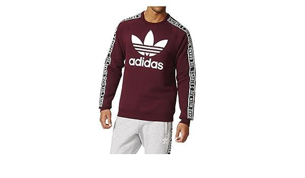 big sale outlet on sale new specials adidas Sweat Crew Bordeaux Homme: Amazon.fr: Vêtements et ...