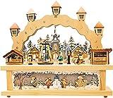 Schwibbogen, Winterkinder mit Pyramide, Lichterbogen, LED, 3D, inkl. Trafo, Weihnachten