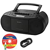 Sony Compact Portable Stereo Sound System Boombox with MP3 CD Player, Digital Tuner AM/FM Radio, Tape Cassette...