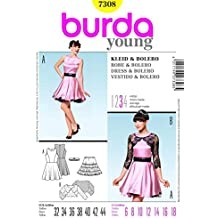 Burda Ladies Sewing Pattern 7308 - Dresses, Underskirt & Bolero Sizes: 6-18 by Burda