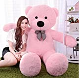 #3: Saba Sales medium Very Soft 3 Feet Lovable/Huggable Teddy Bear with Neck Bow for Girlfriend/Birthday Gift/Boy/Girl (91 CM,Pink)