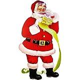alles-meine.de GmbH XXL - Fensterbild -  Weihnachtsmann / Santa Claus / Nikolaus  - 67 cm ! - selbstklebend + wiederverwendbar - Weihnachten - Sticker Fenstersticker Aufkleber ..