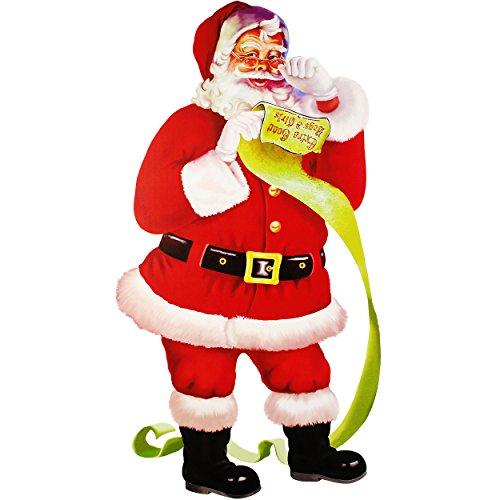 Unbekannt XXL - Fensterbild -  Weihnachtsmann / Santa Claus / Nikolaus  - 67 cm ! - selbstklebend + wiederverwendbar - Weihnachten - Sticker Fenstersticker Aufkleber ..
