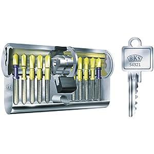 BKS Profilzylinder mit GF, BL 40/50 mm mit 3 Schlüsseln, 88120039