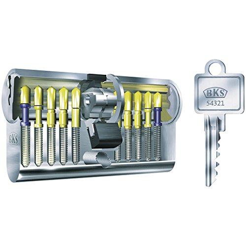 BKS Profilzylinder mit GF, BL 31/31 mm mit 3 Schlüsseln