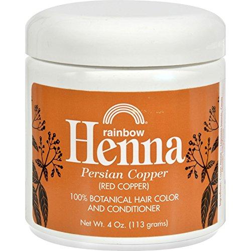 Pack de 1x arco iris investigación Henna Color de pelo y acondicionado persa cobre rojo cobre–4oz