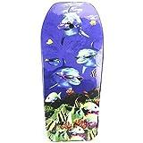 Lively Moments Bodyboard 104 cm/Body Board/Surfboard/Schwimmbrett 3 Delfine mit...