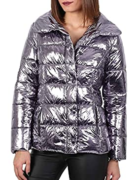 PILOT® falso metálico chaqueta de la piel del collar del soplador
