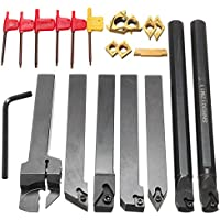 Juego de 7 herramientas para torneado, con soportes, vástagos e insertos, marca Farwind
