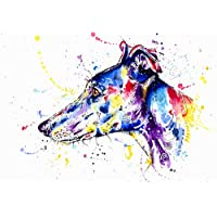 Greyhound Art Whippet Print Lurcher Painting Art Print Gift - Limited Edition - Run of 50