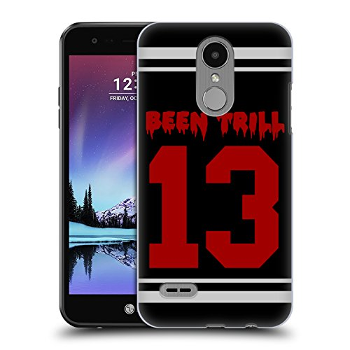 Official Been Trill Red Thirteen Jersey Hard Back Case for LG K4 (2017) / Phoenix 3 (Hc Jersey)