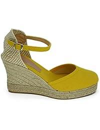 Feixiang Moda las mujeres señalaron los zapatos del dedo del pie ladise zapatos casuales del bajo talón zapatos del Verano (Negro, 40)