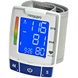 MeasuPro EasyRead Automatic Digital Wrist Blood Pressure Monitor with Heart Rate Detection, Two User Modes, Memory Recall and Large Backlit LCD Display