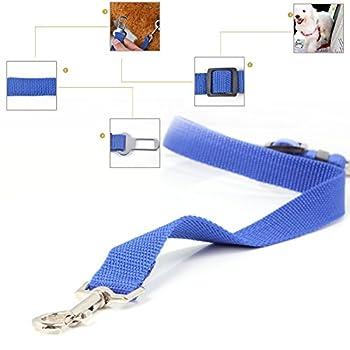 Neuftech® Ceinture de Securite Retenue Laisse Reglable pour Chien / chat / Harnais Animaux de Compagnie pour Les Sièges de Voiture-Bleu