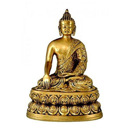 Gangesindia Seigneur Bouddha Bs0196 34.29 cm, 25.4 cm, 17.78 cm