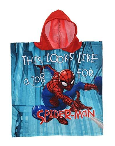 Spiderman Poncho baño Capucha Rojo – Marvel –