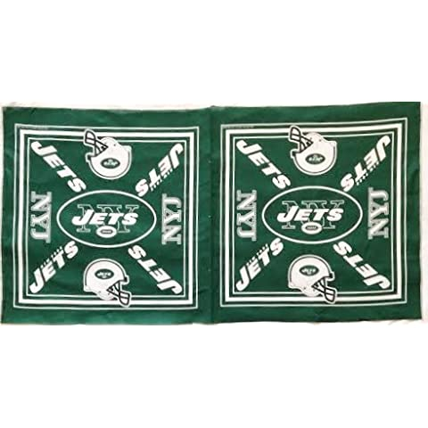 New York Jets Football Fabric Panel - Officially Licensed (Great for Quilting, Sewing, Craft Projects, Quilt Blocks or Throw Pillows) 21 X 44 by New York Jets