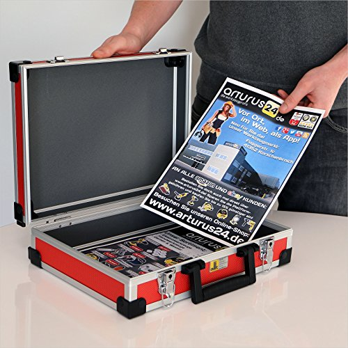 Allit Aluminium Koffer Basic L35 Rot Typ 424110