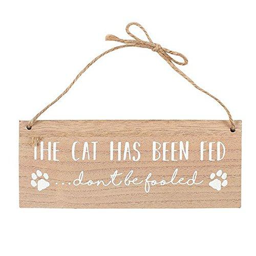 Something Different Hängeschild The Cat Has Been Fed, wendbar (Einheitsgröße) (Braun) -